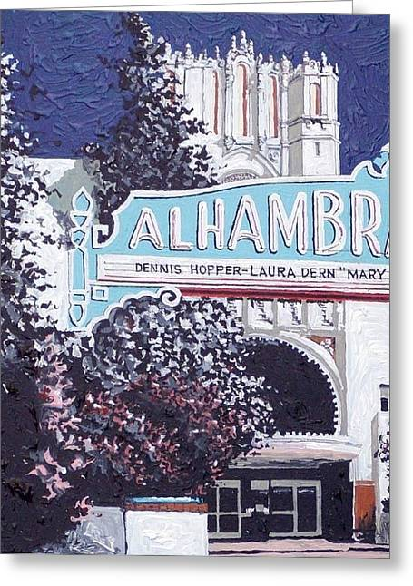 Alhambra Theatre Greeting Card by Paul Guyer