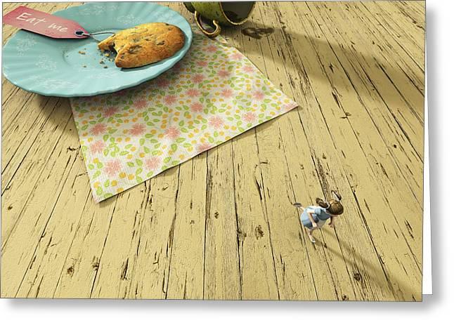 Alice Greeting Card by Cynthia Decker