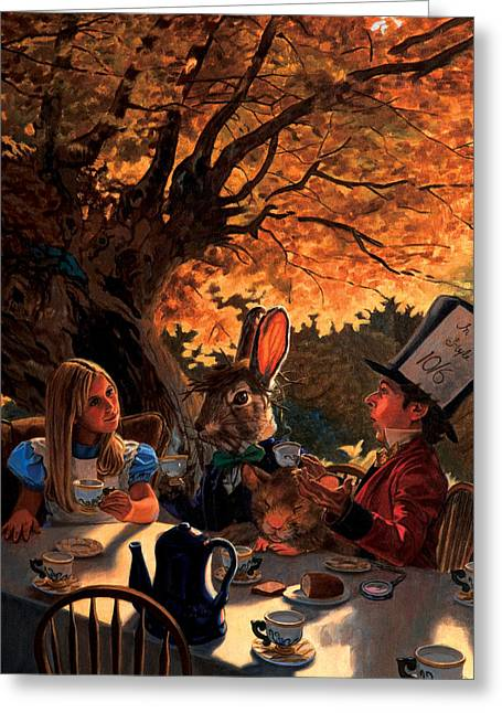 Alice In Wonderland Greeting Card by Patrick Whelan
