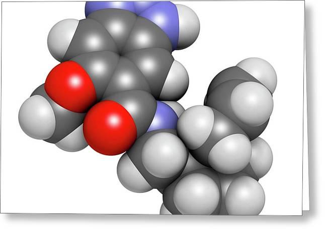 Alizapride Antiemetic Drug Molecule Greeting Card by Molekuul