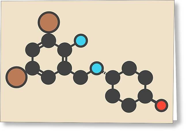 Ambroxol Secretolytic Drug Molecule Greeting Card