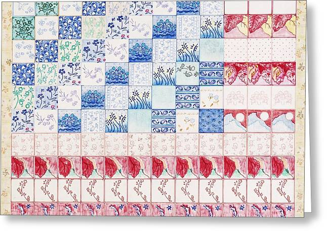 America The Beautiful Greeting Card by Elizabeth Lee