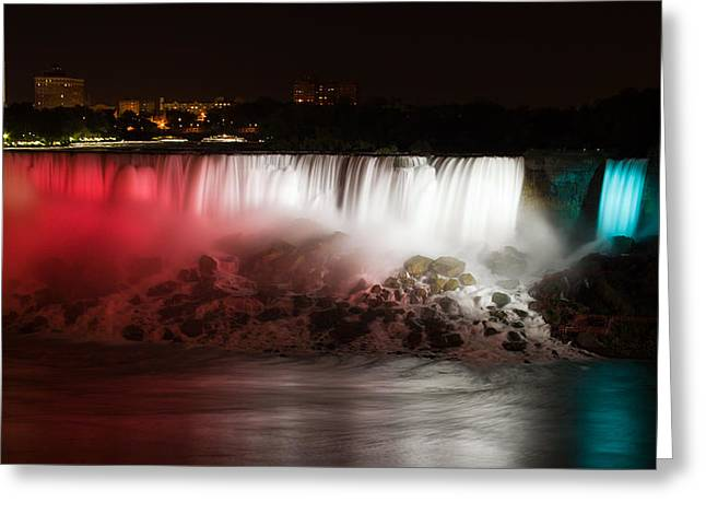 American Falls Greeting Card by Adam Romanowicz