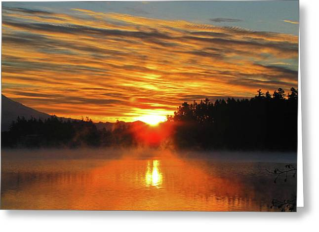 Greeting Card featuring the photograph American Lake Sunrise by Tikvah's Hope