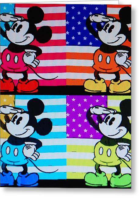 American Mickey Greeting Card by Rob Hans
