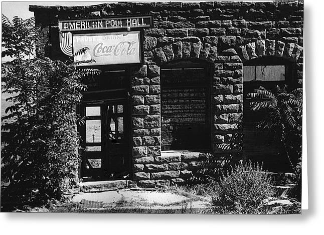 American Pool Hall Facade Version 1 Ghost Town Jerome Arizona 1968 Greeting Card by David Lee Guss