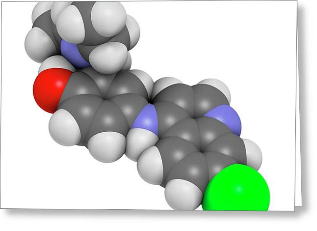 Amodiaquine Anti-malarial Drug Molecule Greeting Card