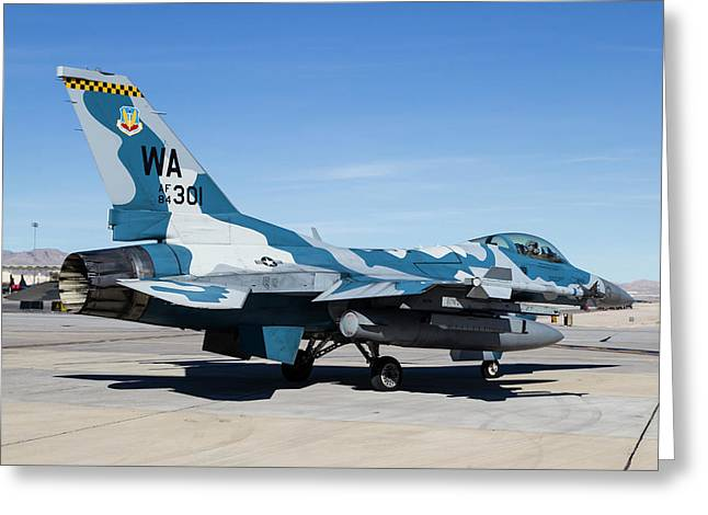 An Aggressor F-16 Fighting Falcon Greeting Card