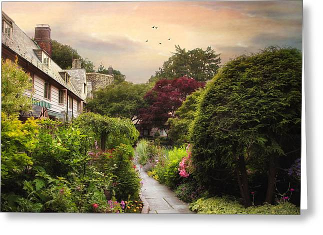 An English Garden Greeting Card