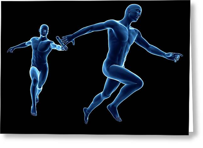 Anatomy Of A Runner Greeting Card