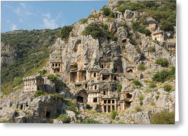 Ancient City Of Myra Greeting Card by David Parker