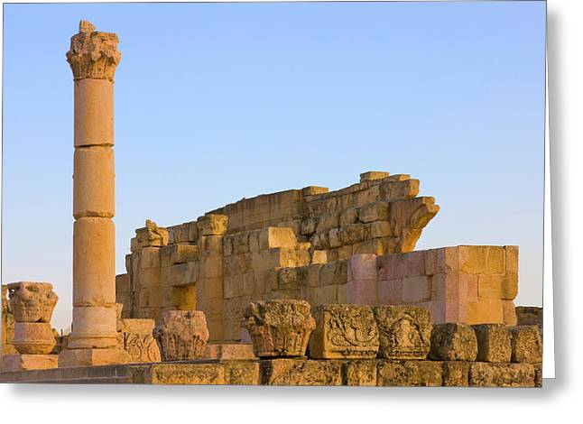 Ancient Jerash Ruins, Amman, Jordan Greeting Card by Keren Su