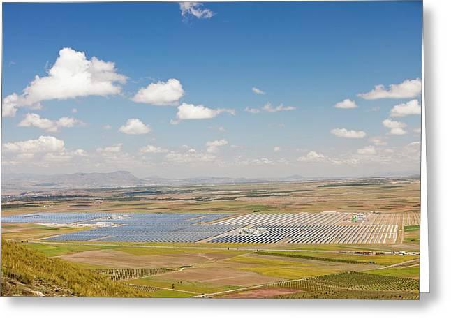 Andasol Solar Power Station Greeting Card by Ashley Cooper