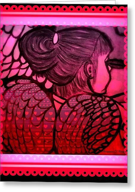 Angel Leah 2 Greeting Card by Maryann  DAmico