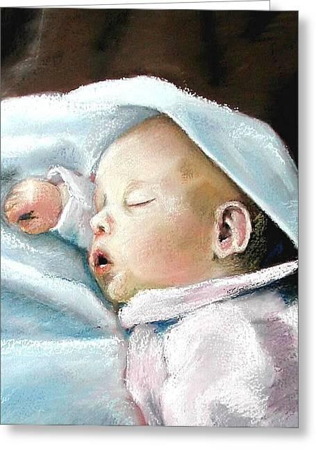 Angel Sleeping Greeting Card by Lenore Gaudet