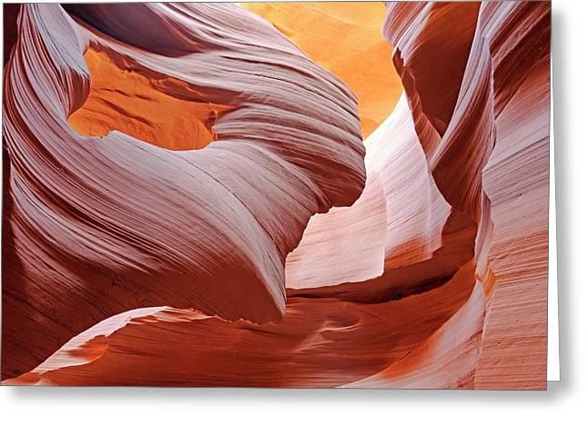 Antelope Canyon Greeting Card by Bildagentur-online/mcphoto-schulz