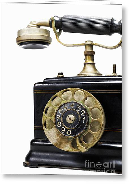 Antique Dial Telephone Greeting Card by Sami Sarkis