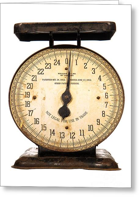 Antique Scale Greeting Card by Olivier Le Queinec