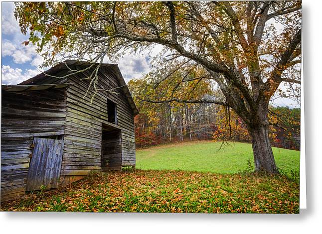 Appalachian Autumn Greeting Card by Debra and Dave Vanderlaan