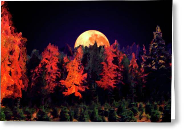 Apple Hill Moonrise Greeting Card