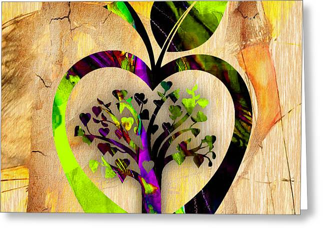 Apple Tree Greeting Card by Marvin Blaine