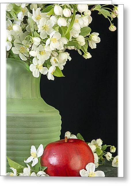Apples Greeting Card by Edward Fielding