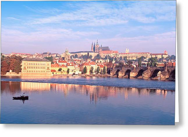 Arch Bridge Across A River, Charles Greeting Card by Panoramic Images