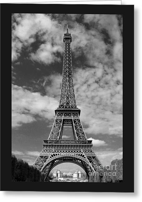 Architectural Standout Bw Greeting Card
