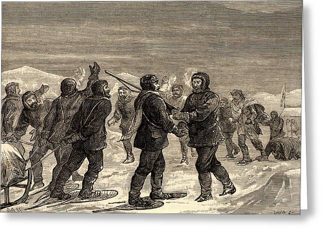 Arctic Expedition Led By John Franklin Greeting Card by Universal History Archive/uig