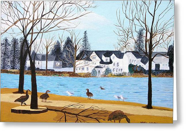 Argyle Lake Greeting Card by Artists With Autism Inc
