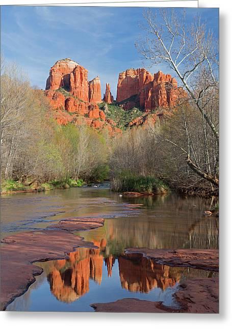 Arizona, Sedona, Crescent Moon Greeting Card