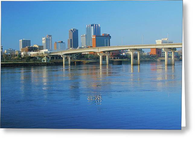 Arkansas River And Skyline In Little Greeting Card