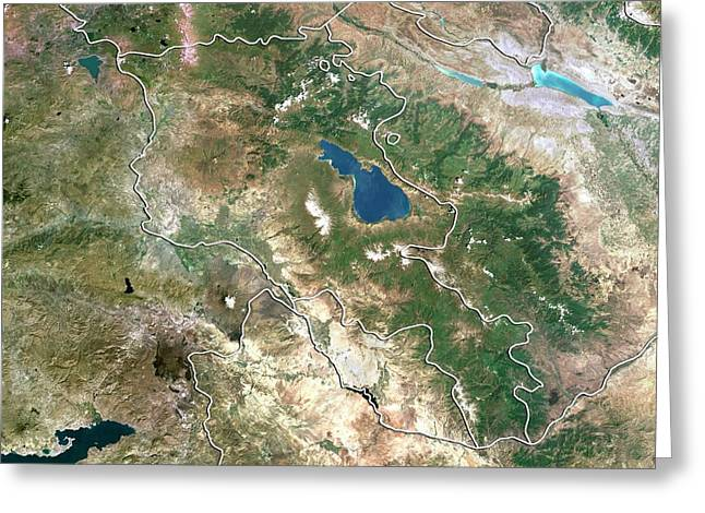 Armenia Greeting Card by Planetobserver/science Photo Library
