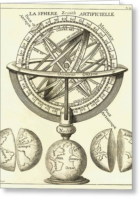 Armillary Sphere, 18th Century Artwork Greeting Card by Detlev van Ravenswaay