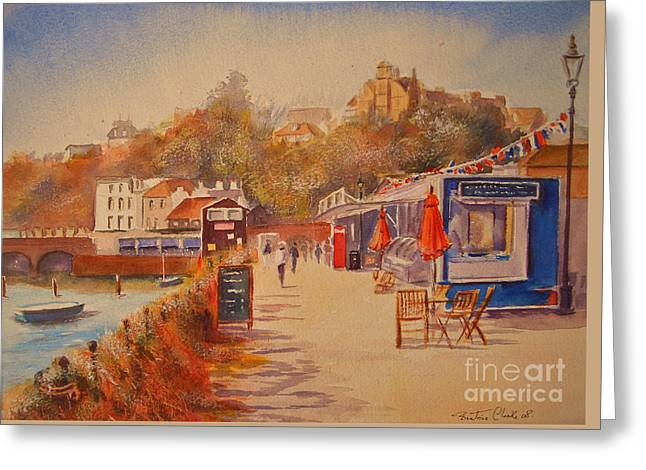 Greeting Card featuring the painting Around Folkestone Harbour by Beatrice Cloake