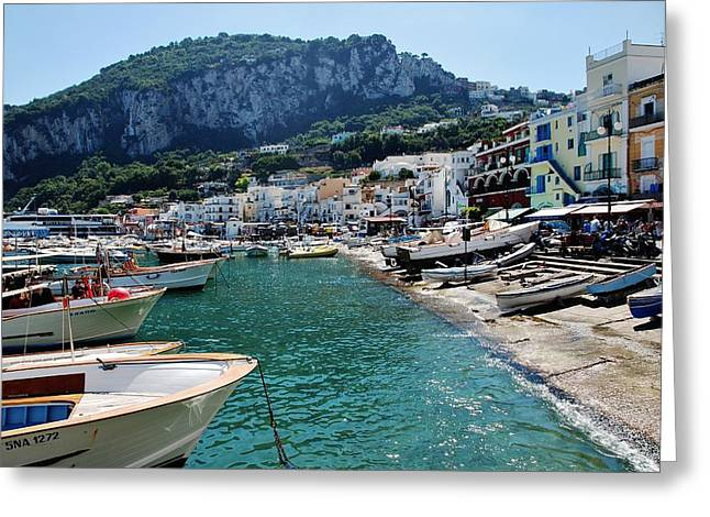 Arrival To Capri  Greeting Card by Dany Lison