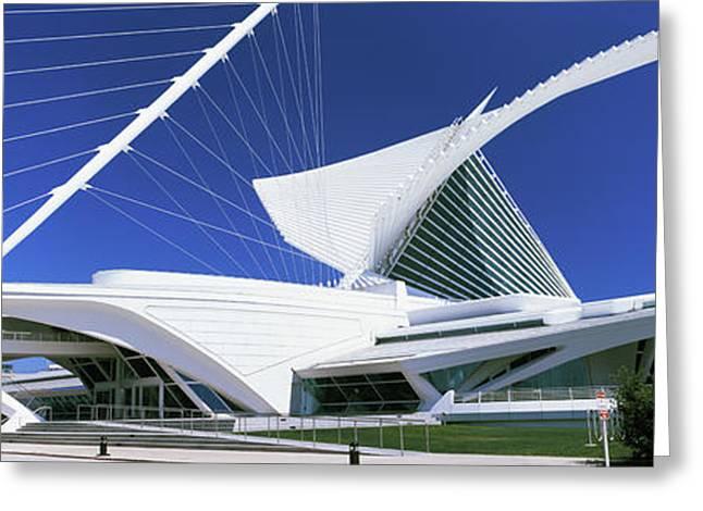 Art Museum, Milwaukee Art Museum Greeting Card by Panoramic Images