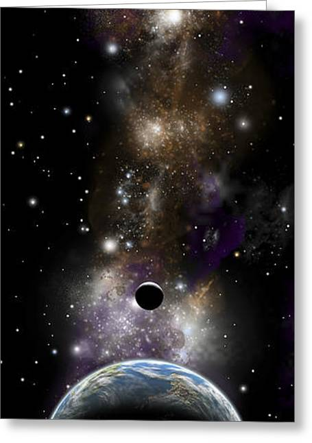 Artists Depiction Of An Earth-like Greeting Card by Marc Ward