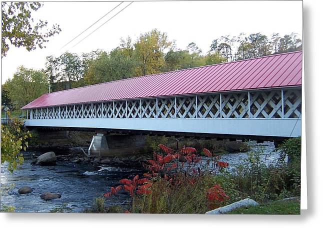 Ashuelot Covered Bridge Greeting Card by Catherine Gagne