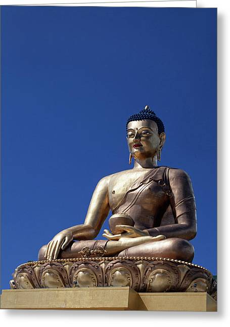 Asia, Bhutan, Thimpu Greeting Card by Kymri Wilt