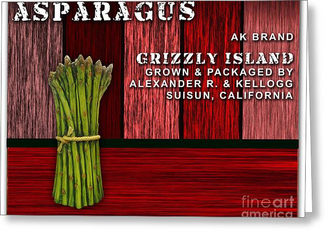 Asparagus Farm Greeting Card by Marvin Blaine