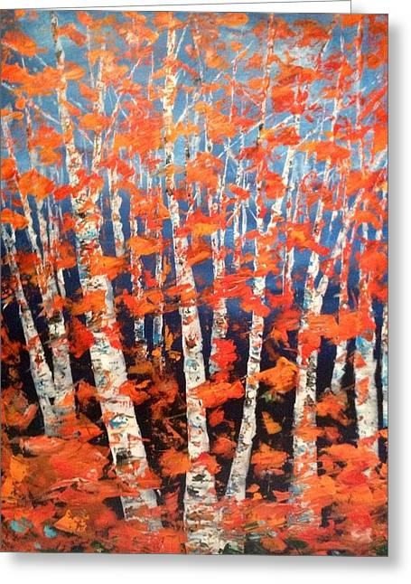 Aspen Abstract Greeting Card