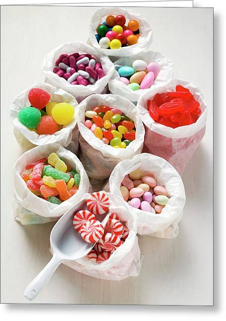 Assorted Sweets In Paper Bags (usa) Greeting Card