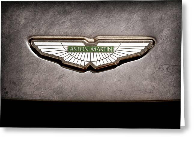 Aston Martin Emblem Greeting Card