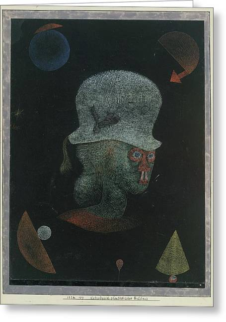 Astrological Fantasy Portrait Greeting Card
