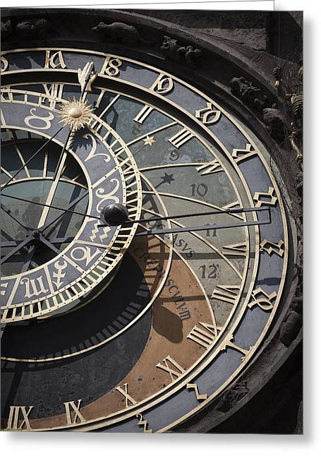 Astronomical Clock Prague Greeting Card