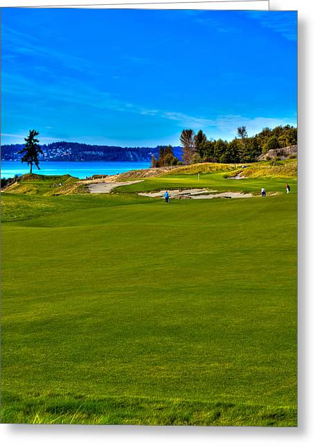 #2 At Chambers Bay Golf Course - Location Of The 2015 U.s. Open Championship Greeting Card by David Patterson
