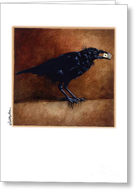 Crows Greeting Cards Greeting Cards - At The Edge Of Paradise... Greeting Card by Will Bullas