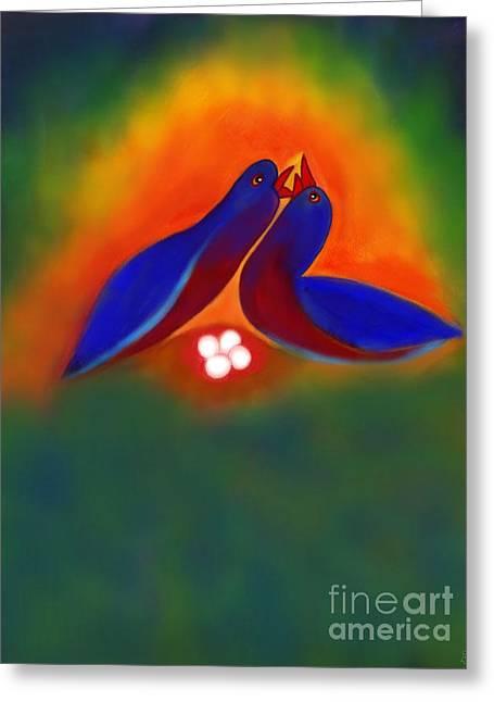 Greeting Card featuring the digital art Attuned by Latha Gokuldas Panicker
