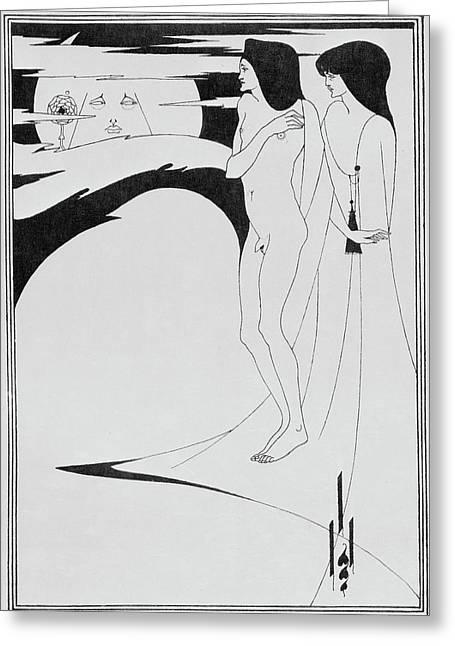 Aubrey Beardsley's Drawings Greeting Card by British Library